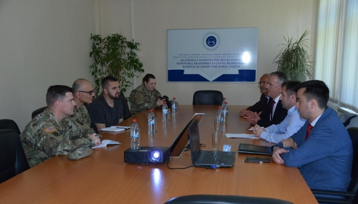 A delegation of KFOR from the United States Army at Camp